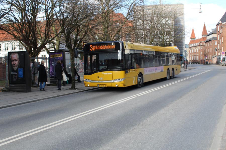 Århus Sporveje 714/AM39252 på Klostertorvet i Aarhus den 26. februar 2018