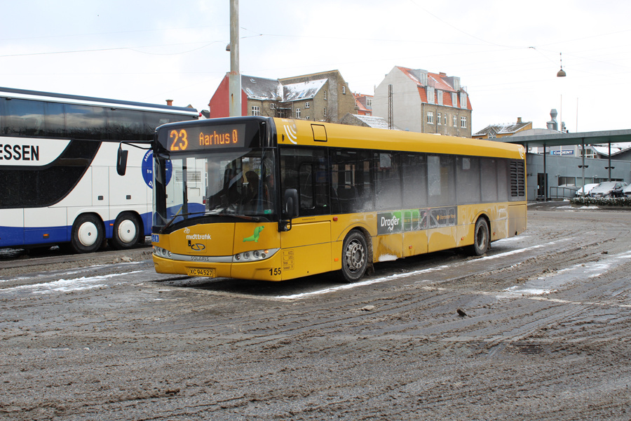 Århus Sporveje 155/XC94527 på Aarhus Rutebilstation den 28. februar 2018