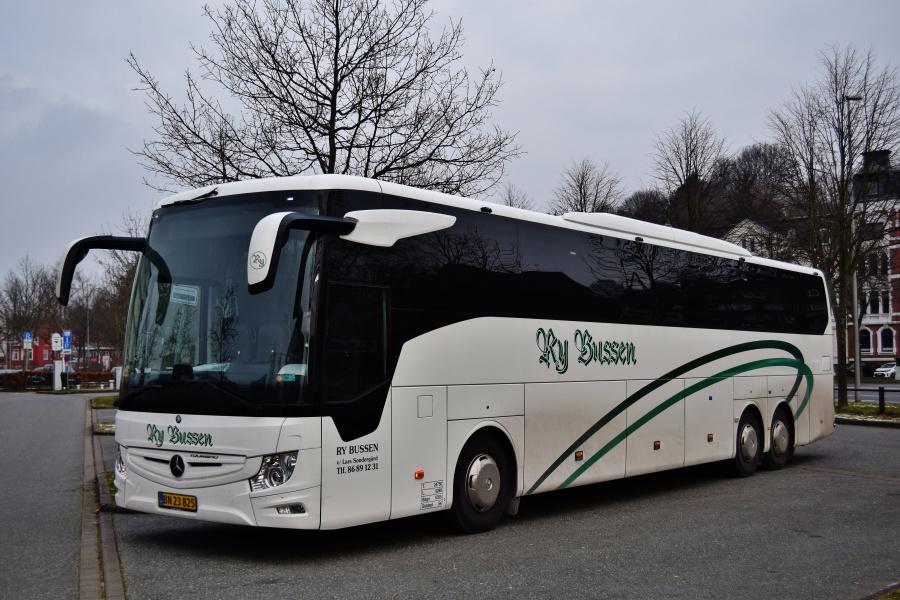Ry Bussen BN23825 ved Ballastkai i Flensburg i Tyskland den 25. januar 2019