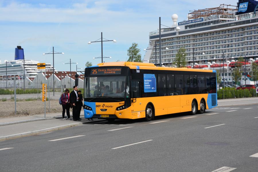 Keolis 8418/DG93085 på Oceankaj i København den 25. maj 2017
