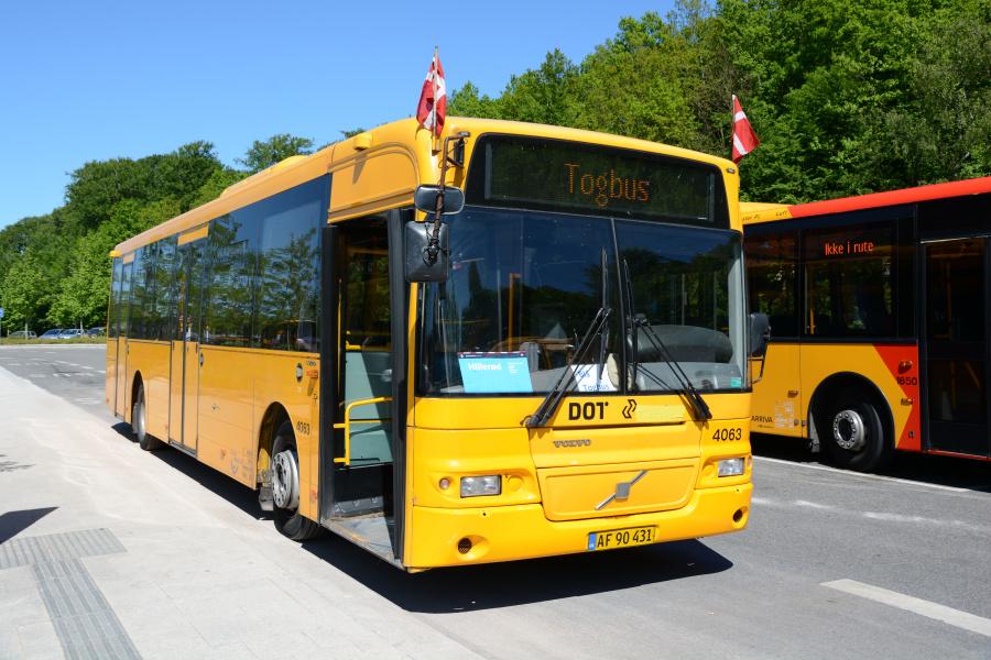 De Blaa Omnibusser 4063/AF90431 på Holte Station den 26. maj 2019