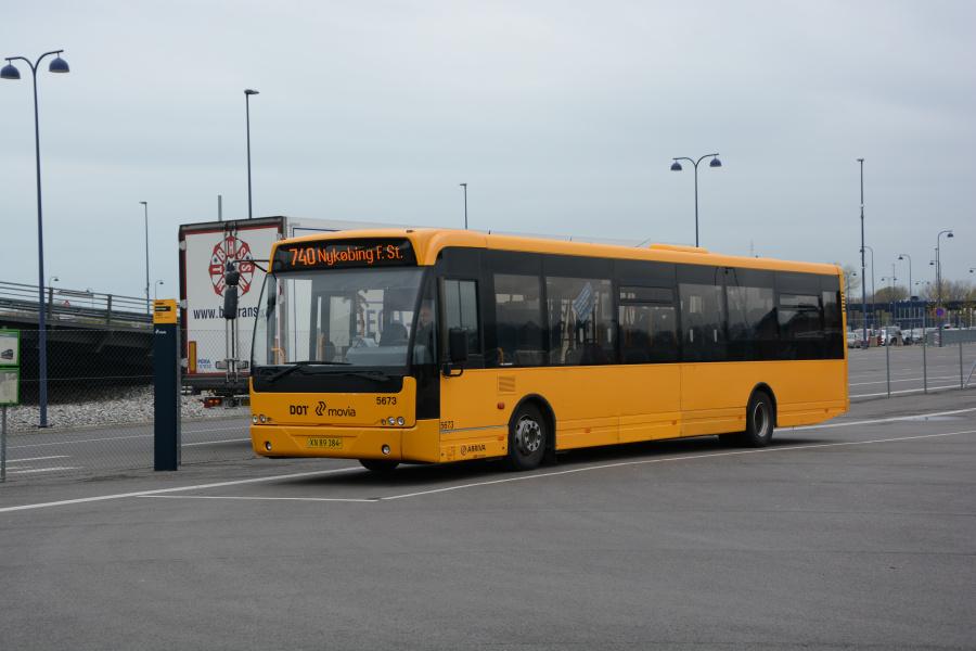 Arriva 5673/XN89384 ved Gedser Færge den 6. maj 2017