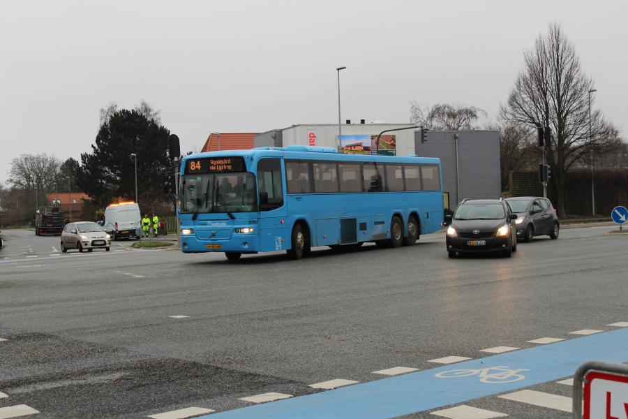 Arriva 2762/VH95083 på Grenåvej ved Lystrupvej i Risskov den 18. december 2018