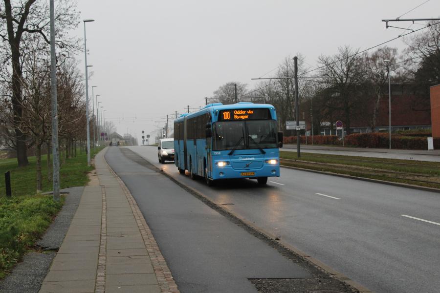 Arriva 2958/XJ89559 på Nørrebrogade i Århus den 18. december 2018