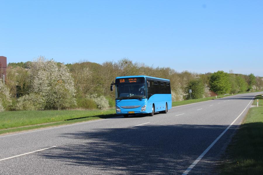 De Grønne Busser 7/BA33491 ved Ølst den 7. maj 2018