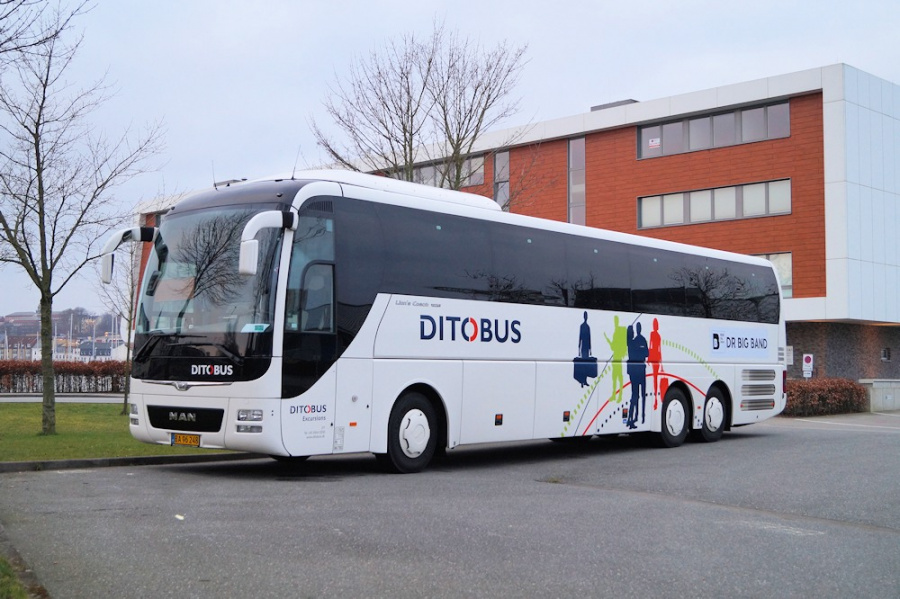 Ditobus 377/BA96248 ved Ballastbrücke i Flensburg, Tyskland den 2. marts 2019