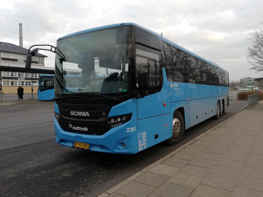 Arriva 2391/BT63095 på Randers Busterminal den 16. februar 2019