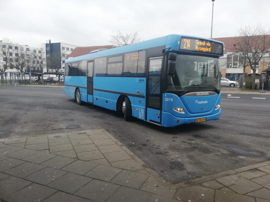 Arriva 2976/XE96414 på Randers Busterminal den 17. februar 2019