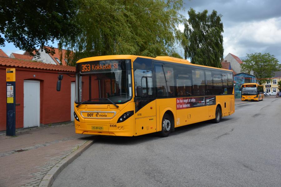Nobina 6106/XS89629 i Helsingør den 26. juni 2017