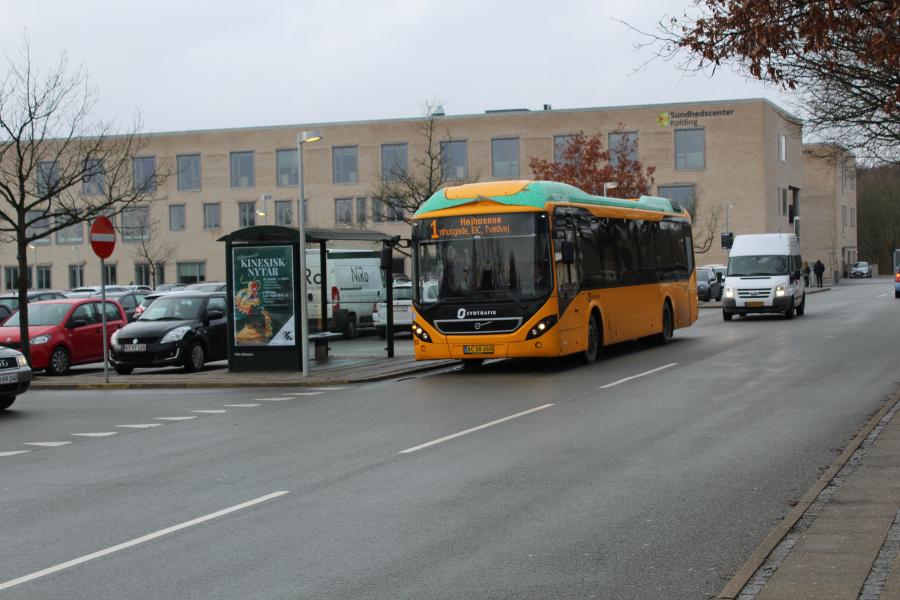 Tide Bus 8723/AC38160 ved Kolding Sygehus den 30. januar 2019