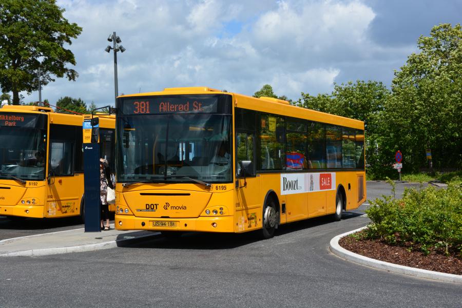 Nobina 6195/US94181 på Rungsted Kyst Station den 26. juni 2017