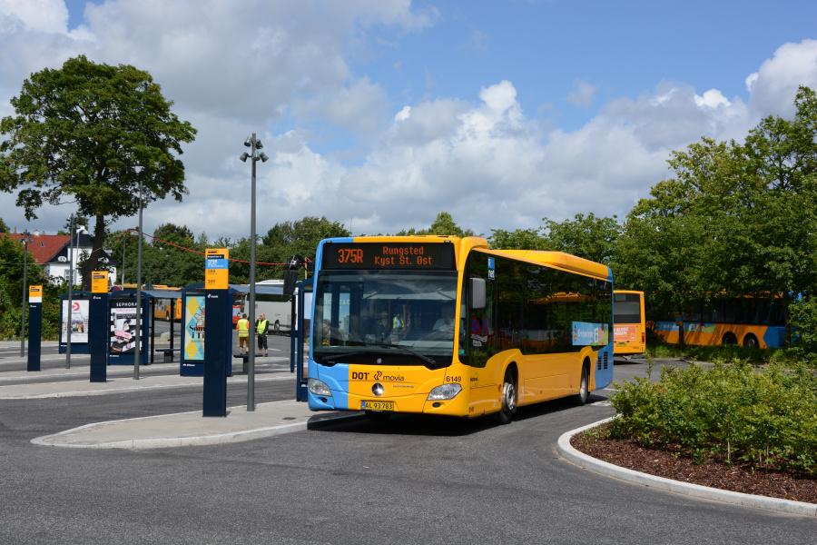 Nobina 6149/AL93783 ved Rungsted Kyst station den 26. juni 2017