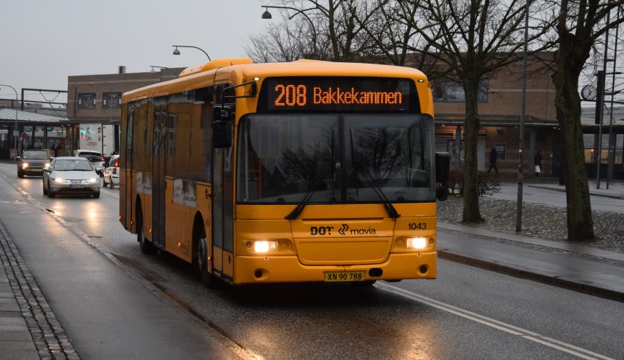 Arriva 1043/XN90788 på Jernbanegade i Roskilde den 27. december 2018