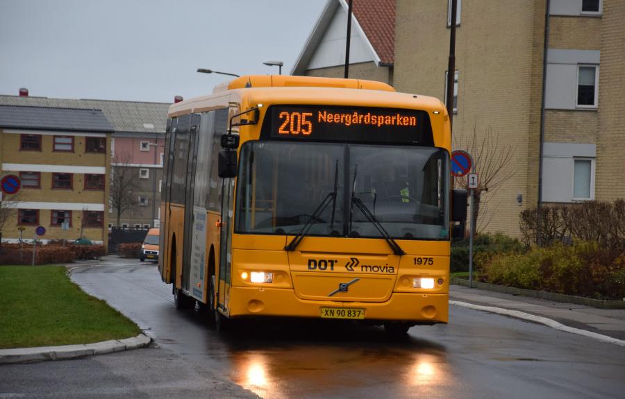 Arriva 1975/XN90837 på Neergårdsparken i Roskilde den 27. december 2018