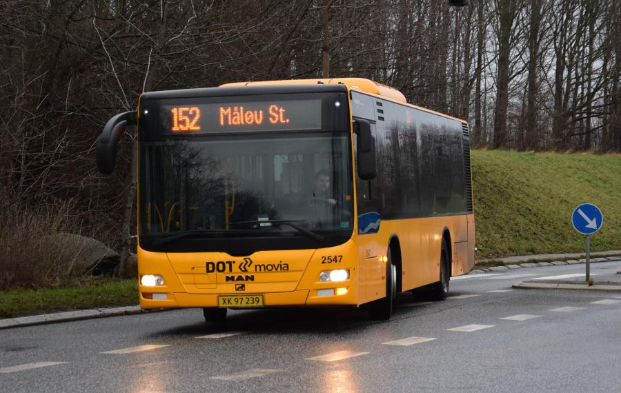 Keolis 2547/XK97239 på Måløv Parkvej i Måløv den 27. december 2018