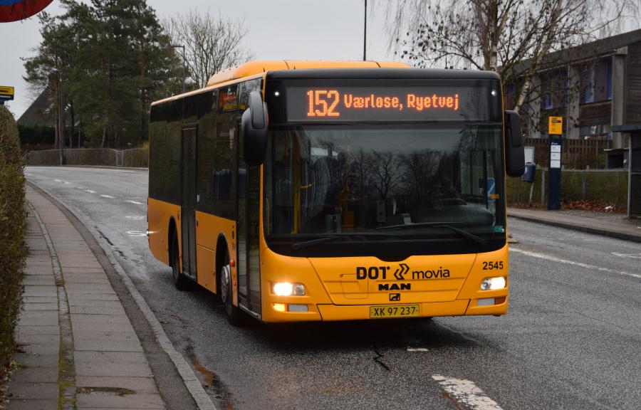 Keolis 2545/XK97237 på Måløvgårdsvej i Måløv den 27. december 2018