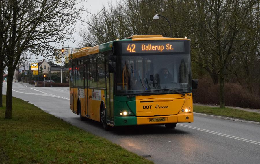 Keolis 2460/US94443 på Skinderskovvej i Hjortespring den 27. december 2018