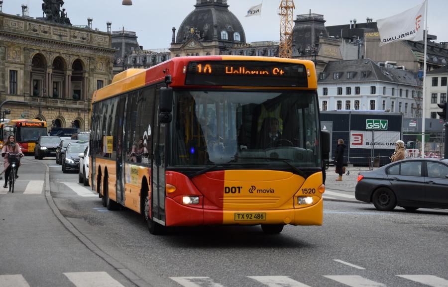 Arriva 1520/TX92486 på Kongens Nytorv i København den 28. december 2018