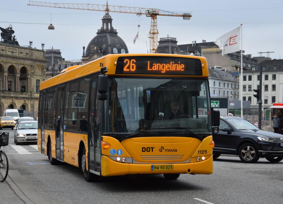 Arriva 1125/BW90025 på Kongens Nytorv i København den 28. december 2018