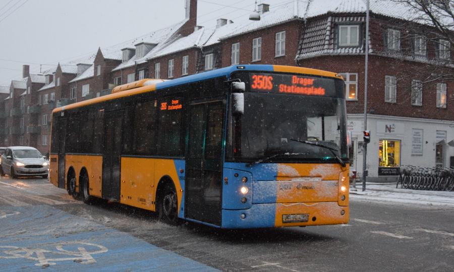 Arriva 1684/VP90493 på Amagerbrogade i Sundbyvester den 21. januar 2019
