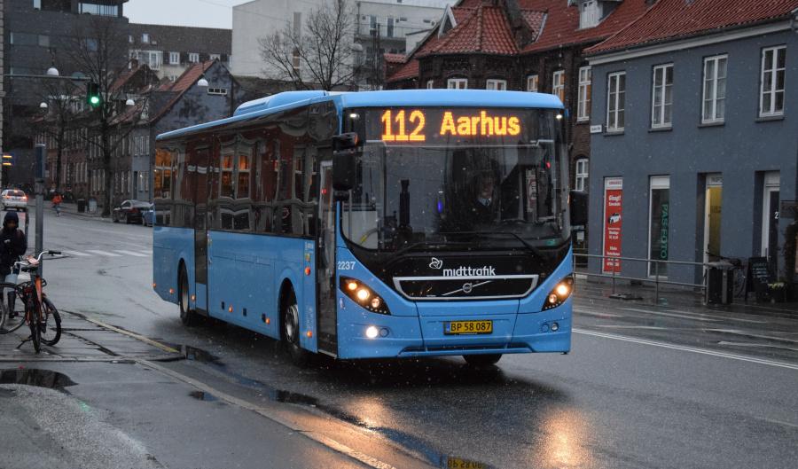 Arriva 2237/BP58087 på Sønder Allé i Århus den 28. januar 2019