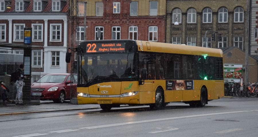 Århus Sporveje 152/XC92610 på Sønder Alléi Århus den 28. januar 2019