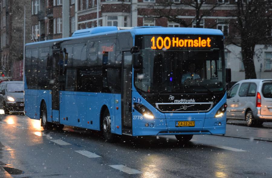 Arriva 2778/CA23297 på Kystvejen i Århus den 28. januar 2019