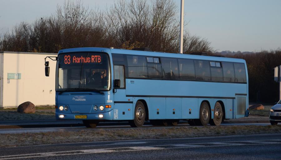 Arriva 3008/XJ96243 på Grenåvej i Skæring den 29. januar 2019