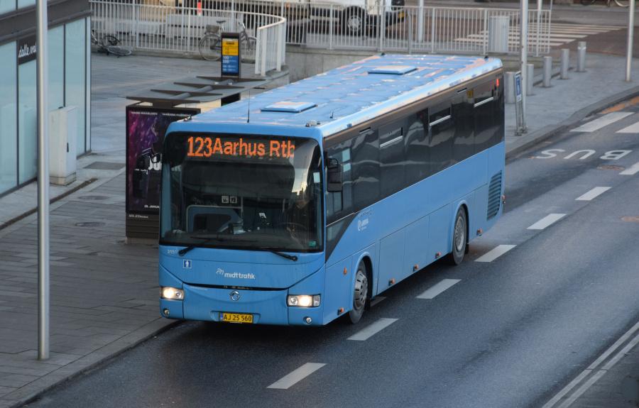 Arriva 3151/AJ25560 på Havnegade i Århus den 29. januar 2019