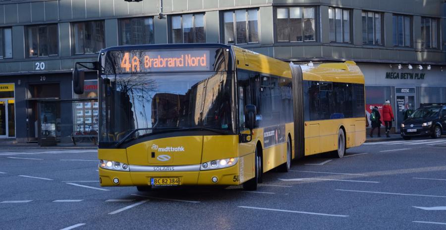 Århus Sporveje 500/BC82384 på Banegårdsgade i Århus den 29. januar 2019