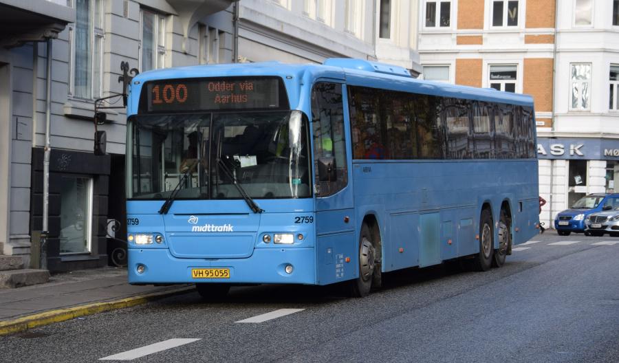 Arriva 2759/VH95055 på Sankt Pauls Kirkeplads i Århus den 29. januar 2019
