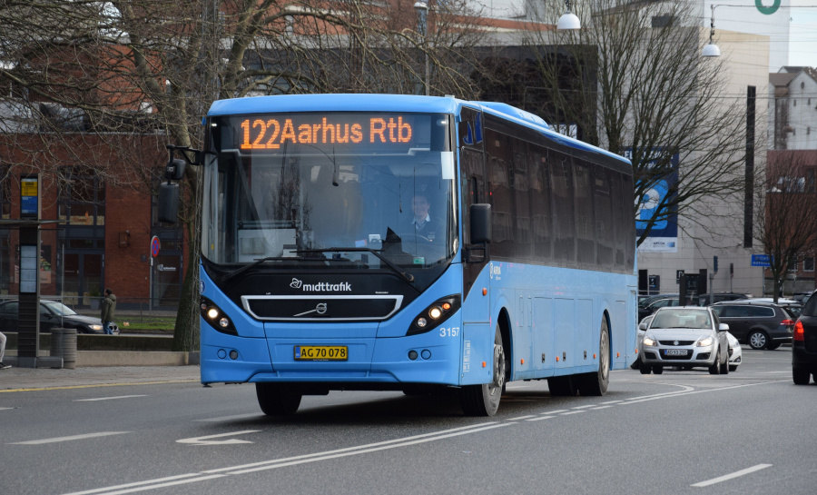 Arriva 3157/AC70078 på Sønder Allé i Århus den 29. januar 2019