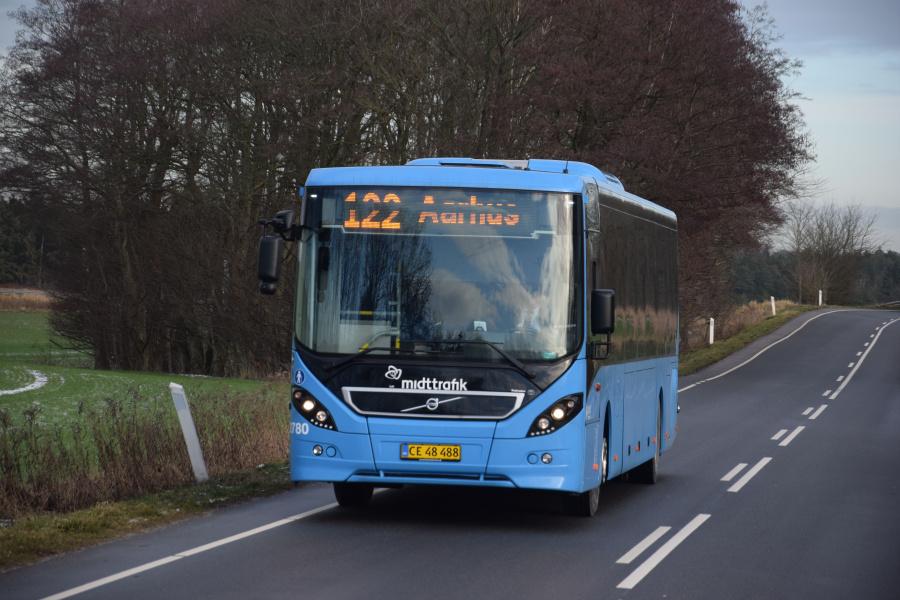 Arriva 2780/CE48488 på Grenåvej nær Feldballe den 29. januar 2019