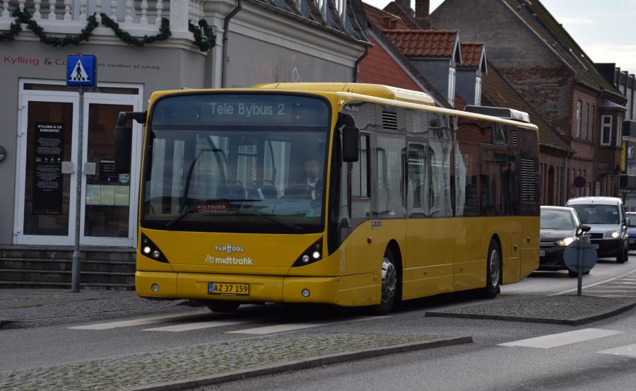 Todbjerg Busser 120/AZ37159 på Kannikegade i Grenå den 29. januar 2019