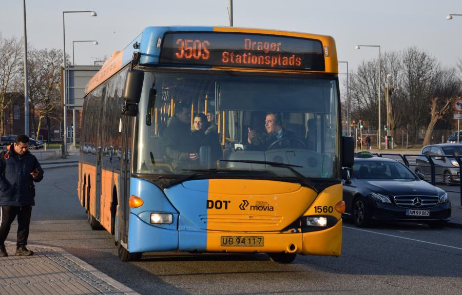 Arriva 1560/UB94117 på Tårnby St. den 16. februar 2019