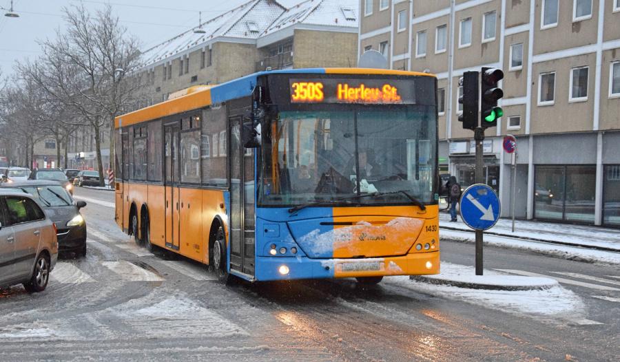 Arriva 1430/XD97109 på Amagerbrogade i Sundbyvester den 21. januar 2019