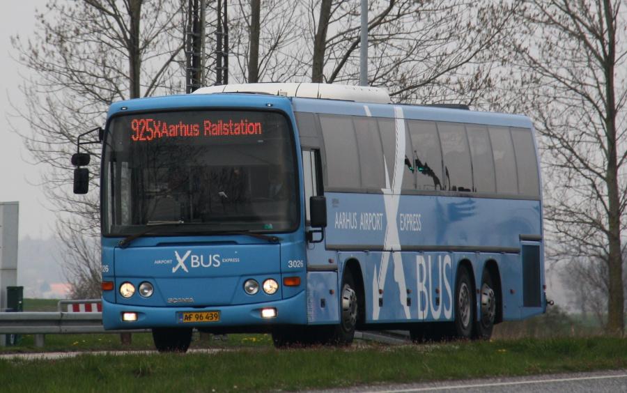 Arriva 3026/AF96439 på Grenåvej i Egå den 7. april 2019