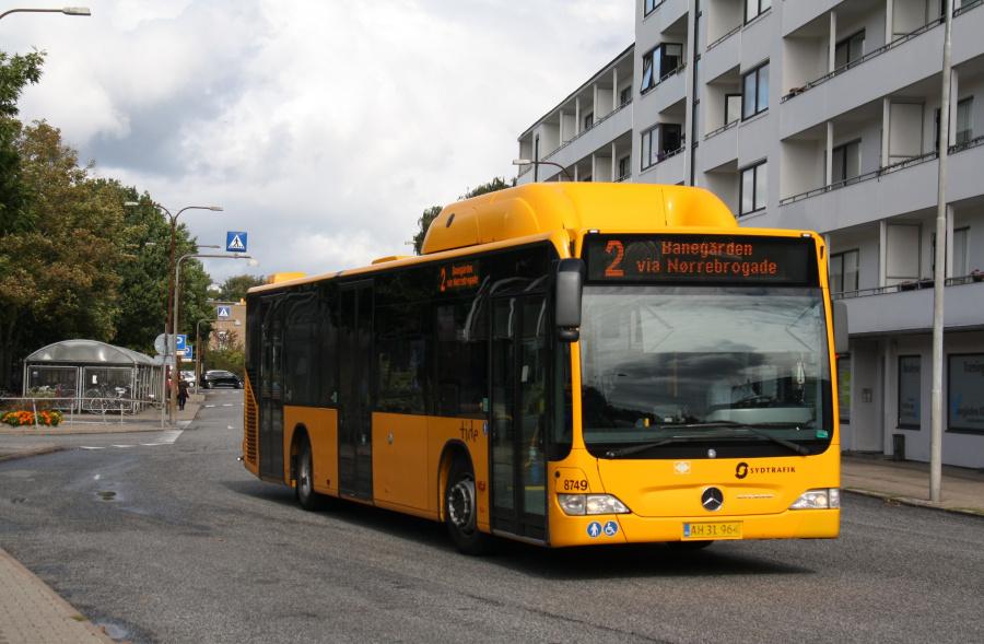 Tide Bus 8749/AH31964 ved Fredericia St. den 9. september 2018