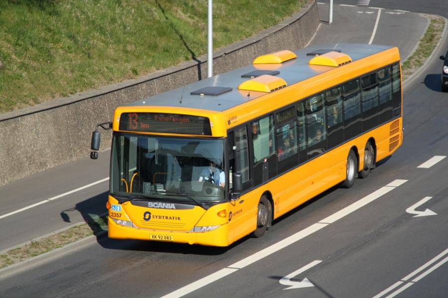 Arriva 2357/XK92083 på Østre Havnevej i Esbjerg den 17. april 2019