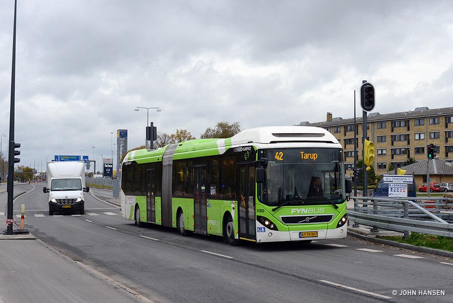 Keolis 3580/AY59867 på Ørbækvej i Odense den 29. oktober 2018