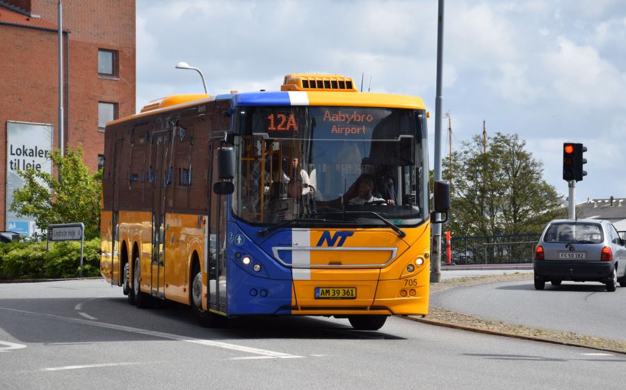 Keolis 705/AM39361 på Vestergade i Nørresundby den 26. juni 2017