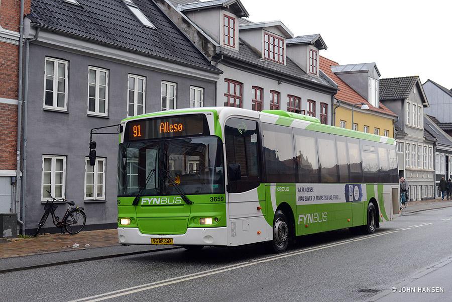 Keolis 3659/VS88482 på Frederiksgade i Odense den 26. januar 2019
