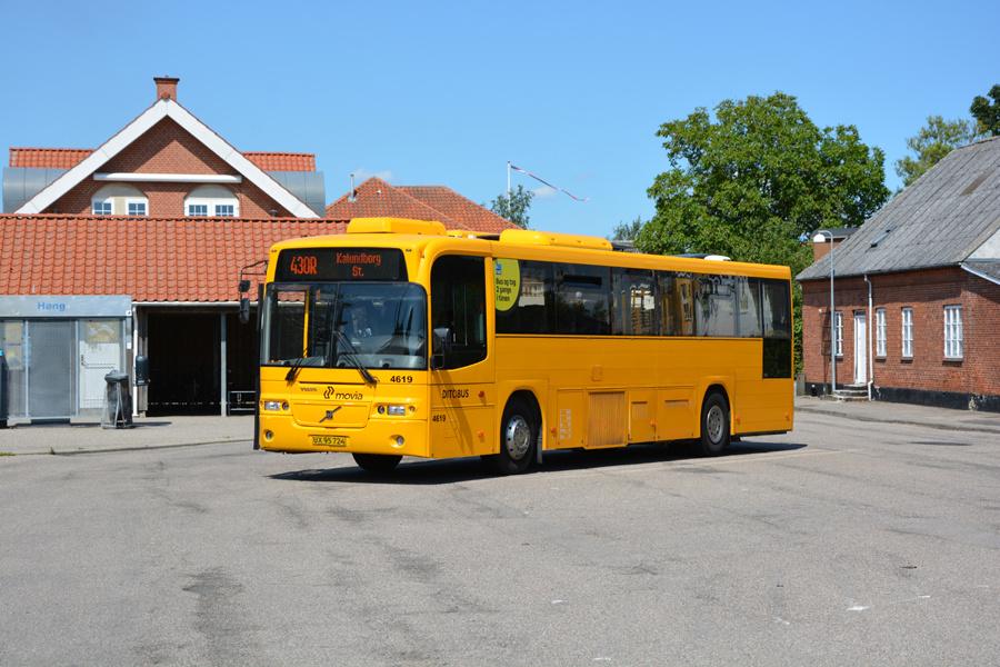 Ditobus 4619/UX95724 ved Høng Station den 15. juli 2017