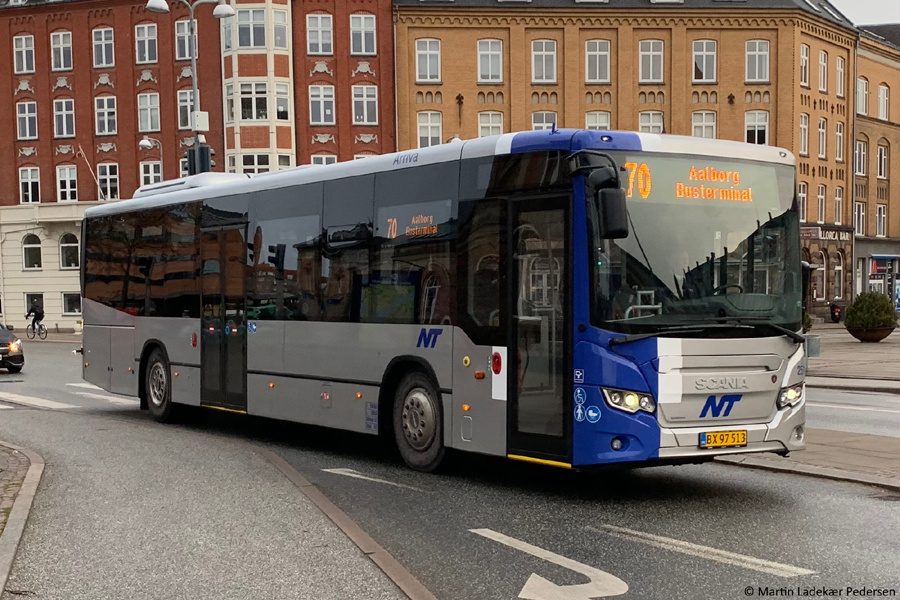 Arriva 2511/BX97513 ved Aalborg Banegård den 12. marts 2019