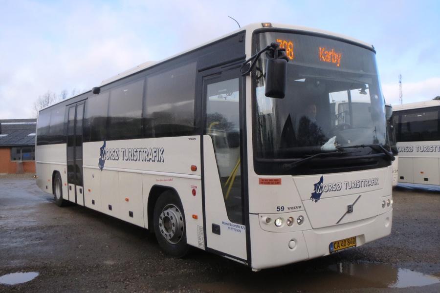 Morsø Bustrafik 59/CA40840 i Nykøbing Mors den 19. februar 2019