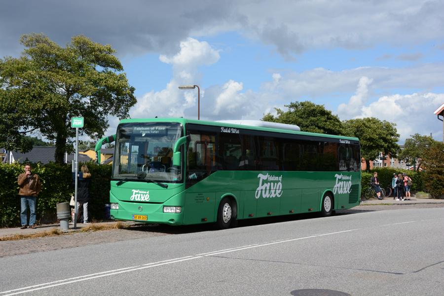 Fladså Turist AF89367 ved Haslev Station den 17. juli 2017