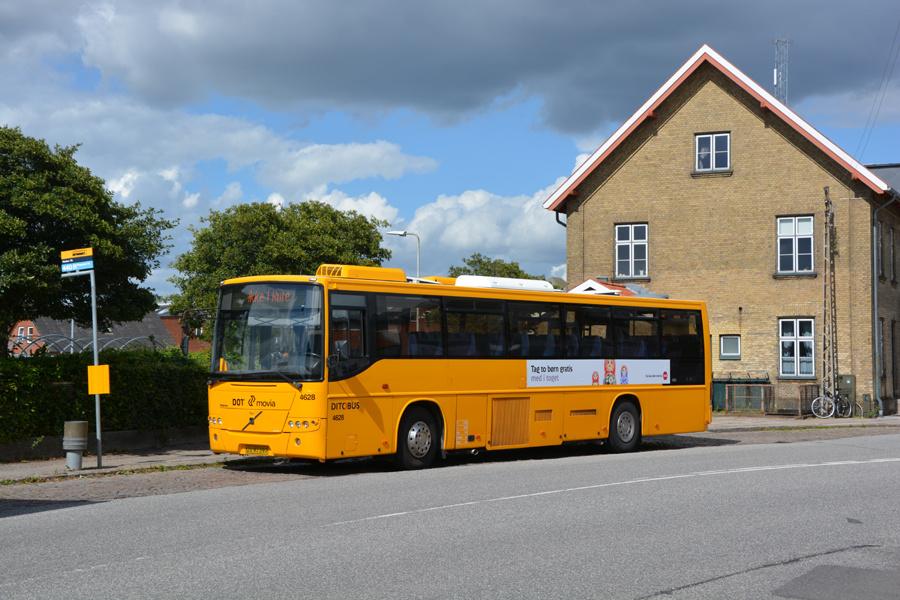 Ditobus 4628/UV97397 ved Haslev Station den 17. juli 2017