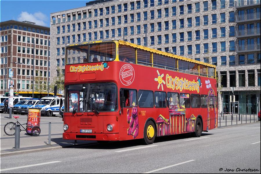 Berlin City Tour B-DP 1765 på Kaistraße i Kiel i Tyskland den 12. maj 2019