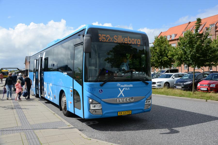 Arriva 3173/XX13773 ved Silkeborg Station den 5. august 2017