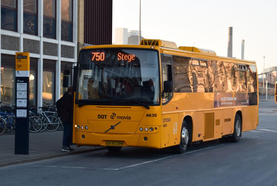 Ditobus 4630/UV97399 på Nykøbing Falster Station den 27. februar 2019
